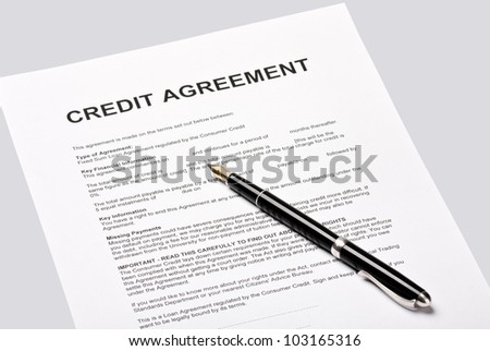Credit Agreement Lies Signature Stock Photo   Shutterstock