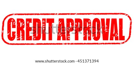 credit approval stamp on white background. - stock photo