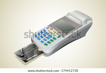 Credit card and card reader