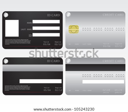 Credit card and id card - stock photo