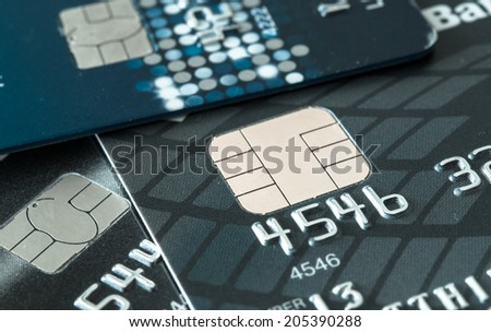 Credit card background - stock photo