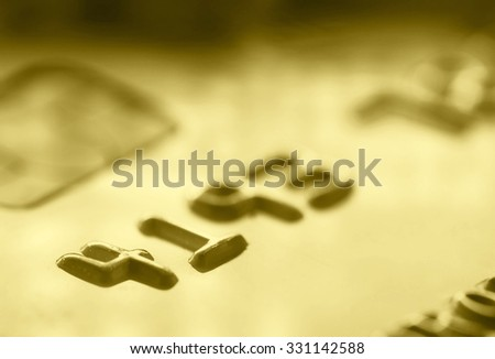 Credit card business background.  Selective focus
