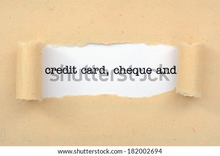 Credit card, cheque - stock photo