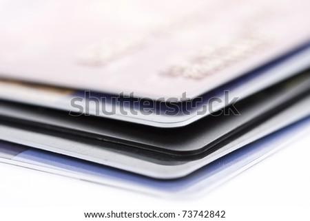 Credit card, close-up - stock photo
