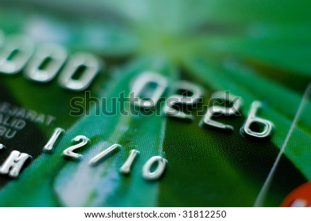 Credit card close-up, shallow DOF