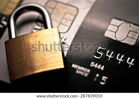 credit card data encryption security - stock photo