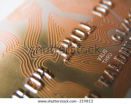 Credit card details - stock photo