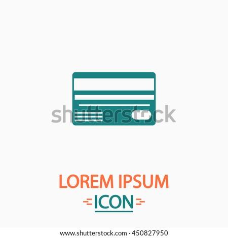 Credit card. Flat icon on white background. Simple illustration - stock photo