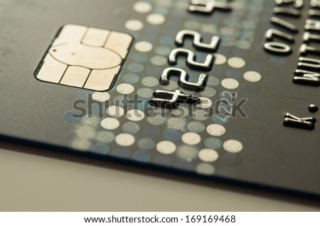 Credit card for background low key shot. - stock photo