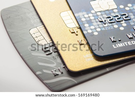 Credit card for background low key shot.