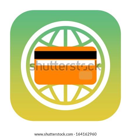 Credit card icon - stock photo