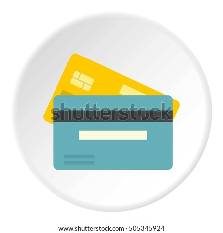 Credit card icon. Flat illustration of card  icon for web design