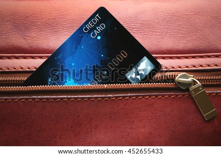 Credit card in pocket