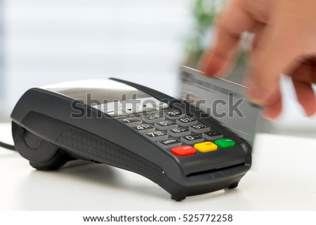 Credit card machine, payment for online shopping