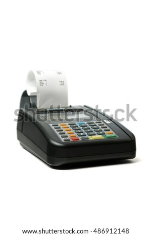Credit card machine with payment summary.