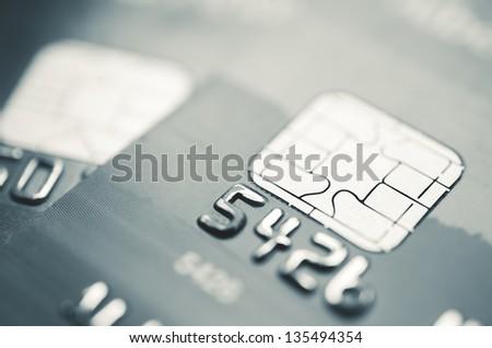 Credit Card Macro - stock photo