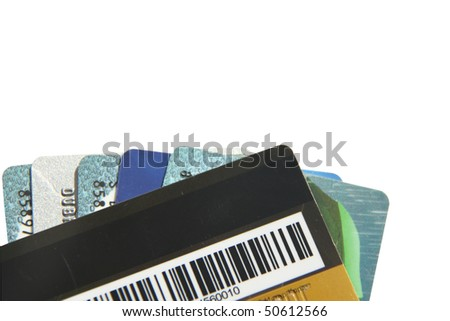 Credit card on white background - stock photo