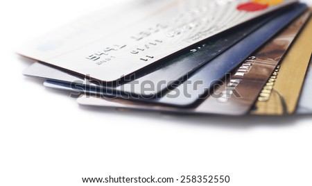 Credit Card, Paying, Buying. - stock photo