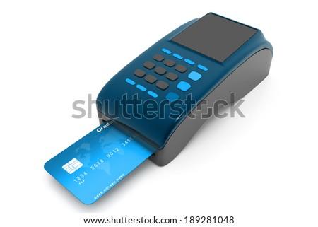 credit card reader - stock photo