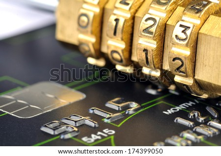 credit  card safety - stock photo