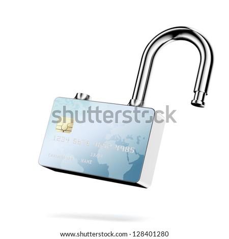 Credit Card Security. - stock photo
