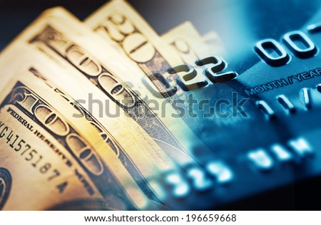 Credit card. Selective focus. - stock photo