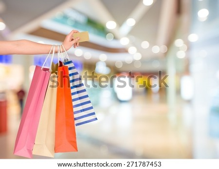 Credit Card, Shopping Bag, Shopping.