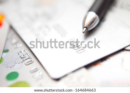 Credit Card sign with pen for shopping