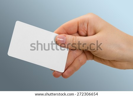 Credit Card, Smart Card, Human Hand. - stock photo