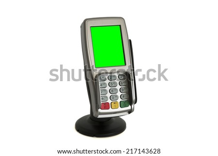 Credit card terminal  - stock photo