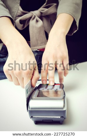 Credit Card Terminal Machine - stock photo