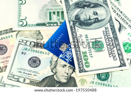 Credit card with Dollar - stock photo
