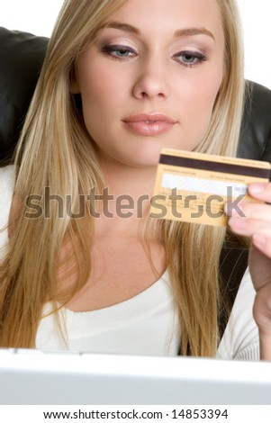 Credit Card Woman - stock photo
