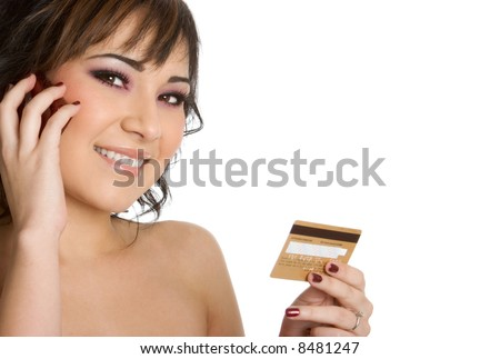 Credit Card Woman - stock photo