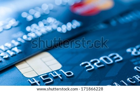 Credit cards. - stock photo