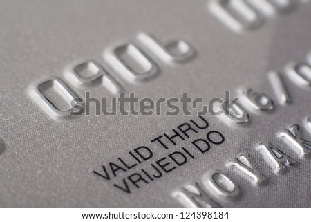 Credit Cards - Valid thru - stock photo