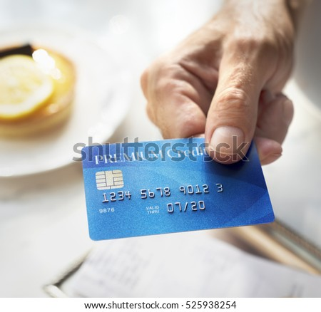 Credit Debit Card Financial Money Paying Balance Concept