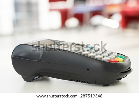 Credit & debit card shopping password payment - stock photo