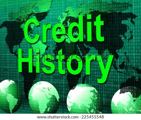 Credit History Showing Financial Report And Shopping