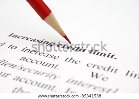 Credit limit - stock photo