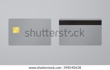 Credit or debit card template with grey background,To apply any concept for business transaction , gift card, vip and discount card illustration. - stock photo