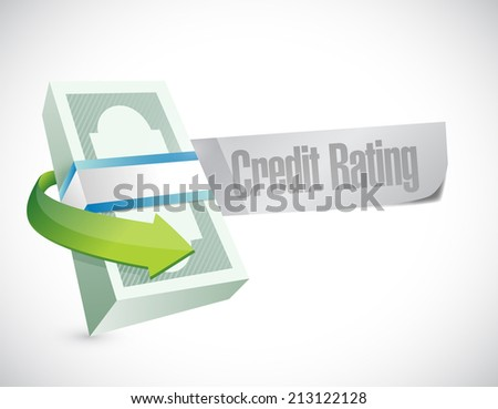 credit rating sign illustration design over a white background - stock photo