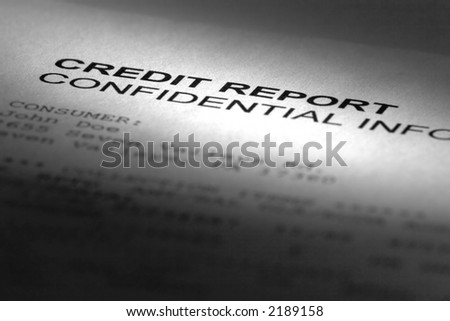 Credit report header - stock photo