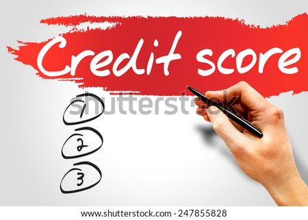 CREDIT SCORE blank list, business concept - stock photo
