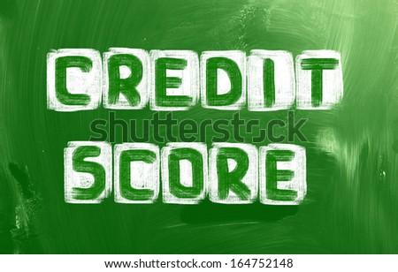 Credit Score Concept - stock photo