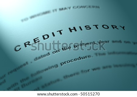 Credit statement. - stock photo