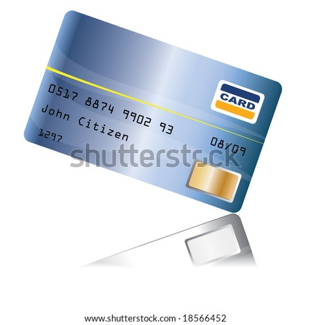 Creditcard with reflection
