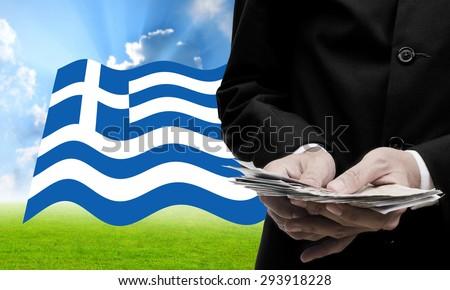 Creditor offer more loan, Greece�s Debt Crisis concept - stock photo