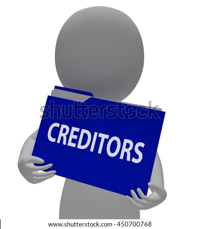 Creditors Folder Meaning Money Folders And Finance 3d Rendering - stock photo