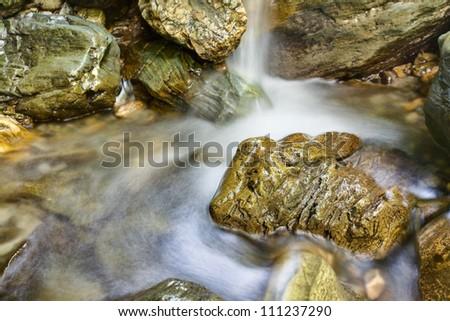creek in mountain - stock photo